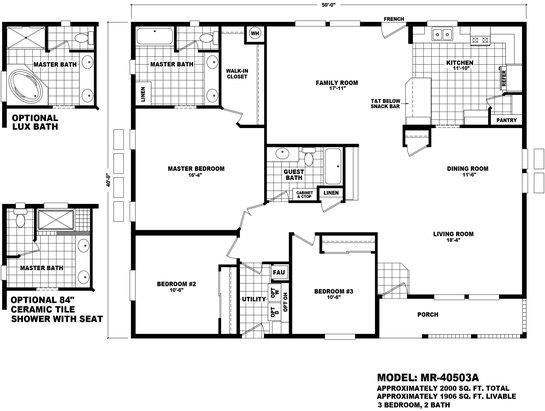 Floor Plan MR-40503A | Mountain Ridge | Durango Homes ... on manufactured homes in texas, manufactured mobile homes 2014, manufactured homes inside, manufactured home community, manufactured modular homes, manufactured home steps plans, manufactured homes interior, manufactured home kitchen plans, manufactured home layouts, manufactured home plans and prices, manufactured home loan, manufactured homes decorating, manufactured home lighting, manufactured home with attached garage, manufactured home site plan, manufactured housing, manufactured home garage plans, manufactured homes built in 1978, triple wide manufactured home plans, manufactured home remodeling,