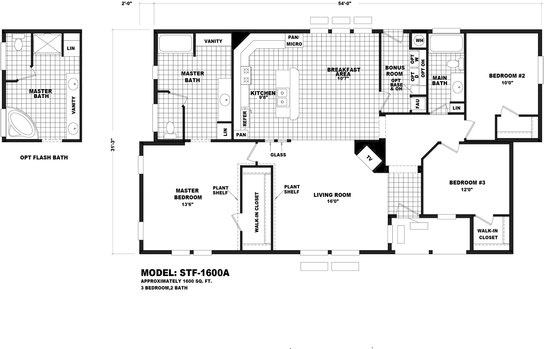 Floor Plan Stf 1600a Santa Fe Durango Homes Built By Cavco Manufactured Home Floor Plans Available In Arizona California Colorado Nevada New Mexico And Utah