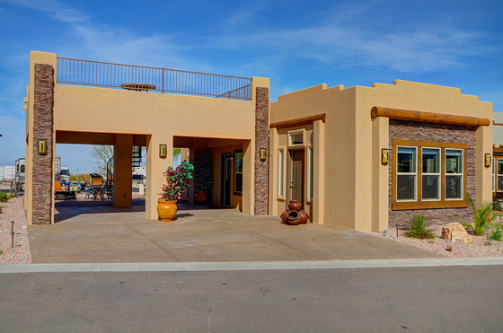 Exteriors pictures durango homes built by cavco for Santa fe style manufactured homes